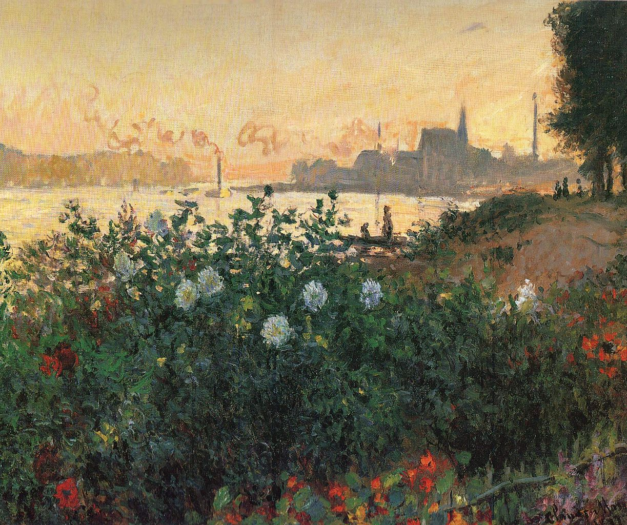 Flowers on the riverbank at Argenteuil, 1877, Pola Museum of Art, Japan