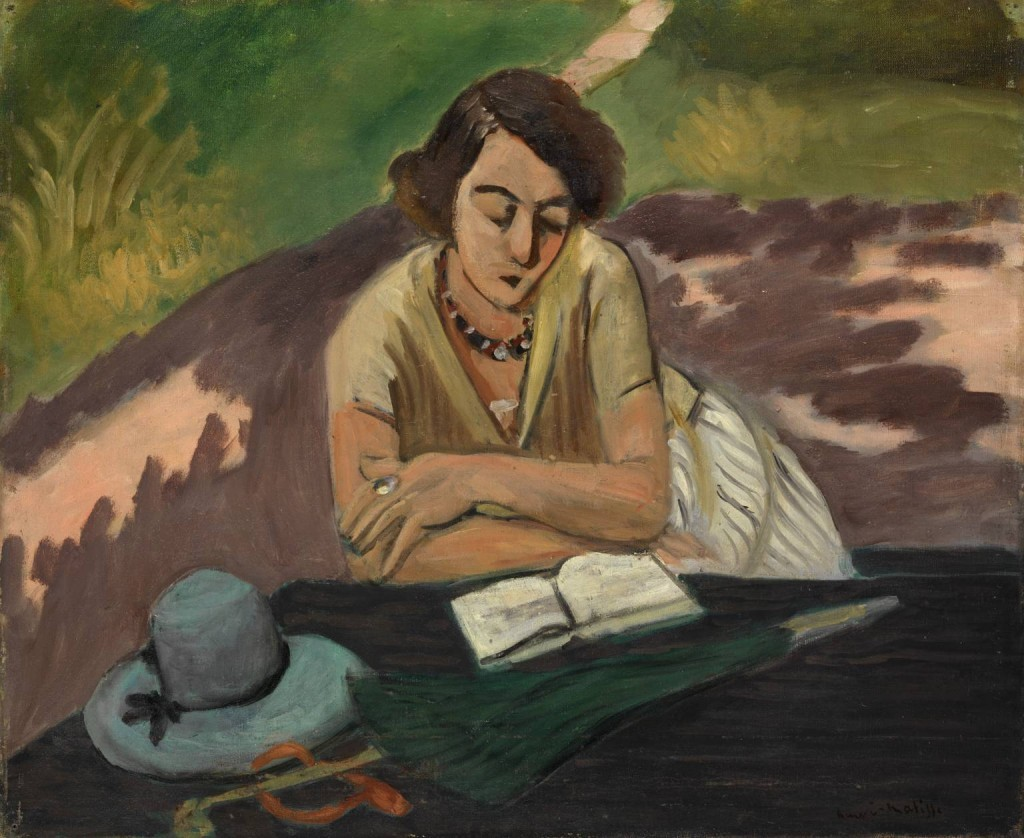 Henri-Matisse-Paintings-Reading-Woman-with-Parasol-1024x838