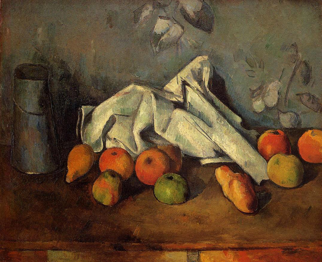 Paul Cézanne Milk Can and Apples