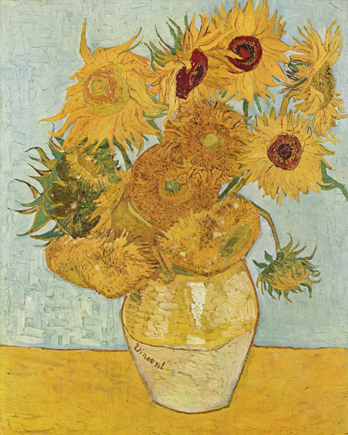 Sunflowers or Vase with Twelve Sunflowers (August 1888)