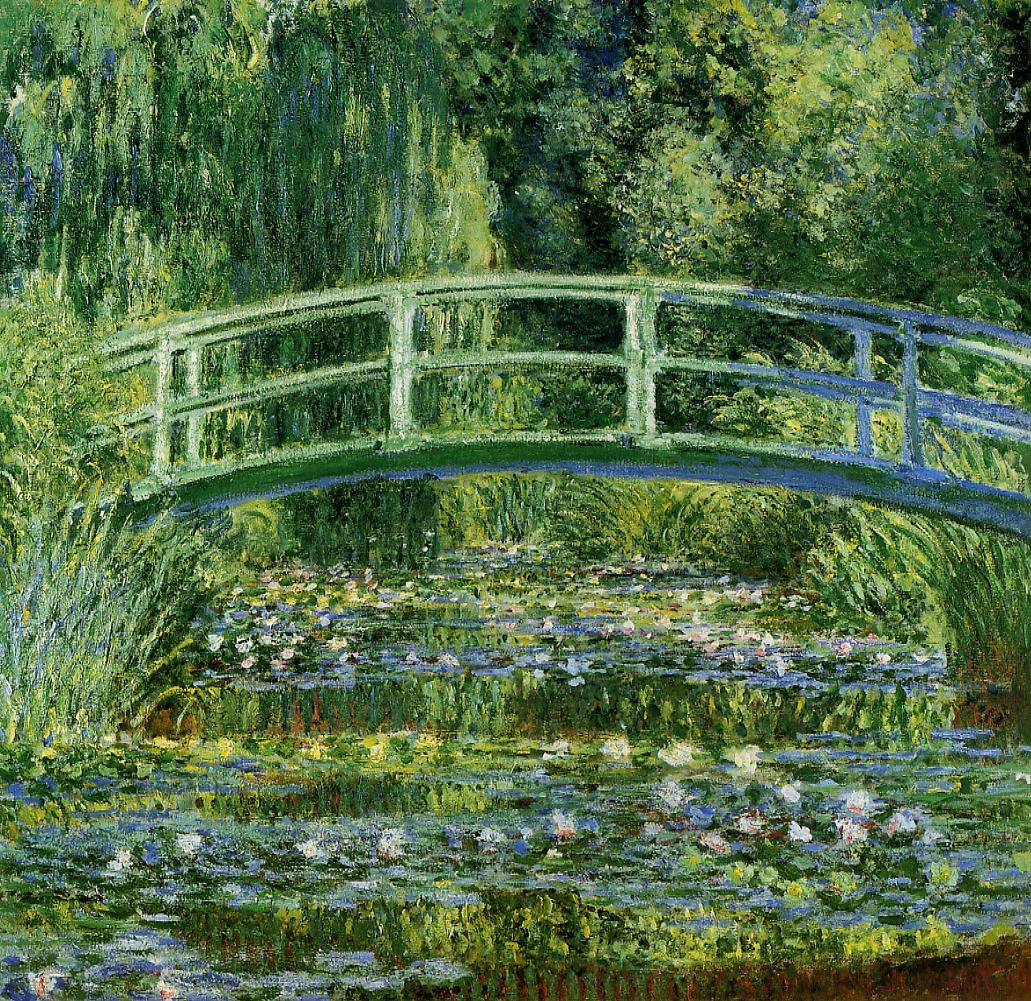 Water Lilies and the Japanese bridge, 1897–99, Princeton University Art Museum