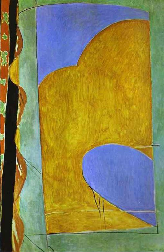 the yellow curtain - 1914