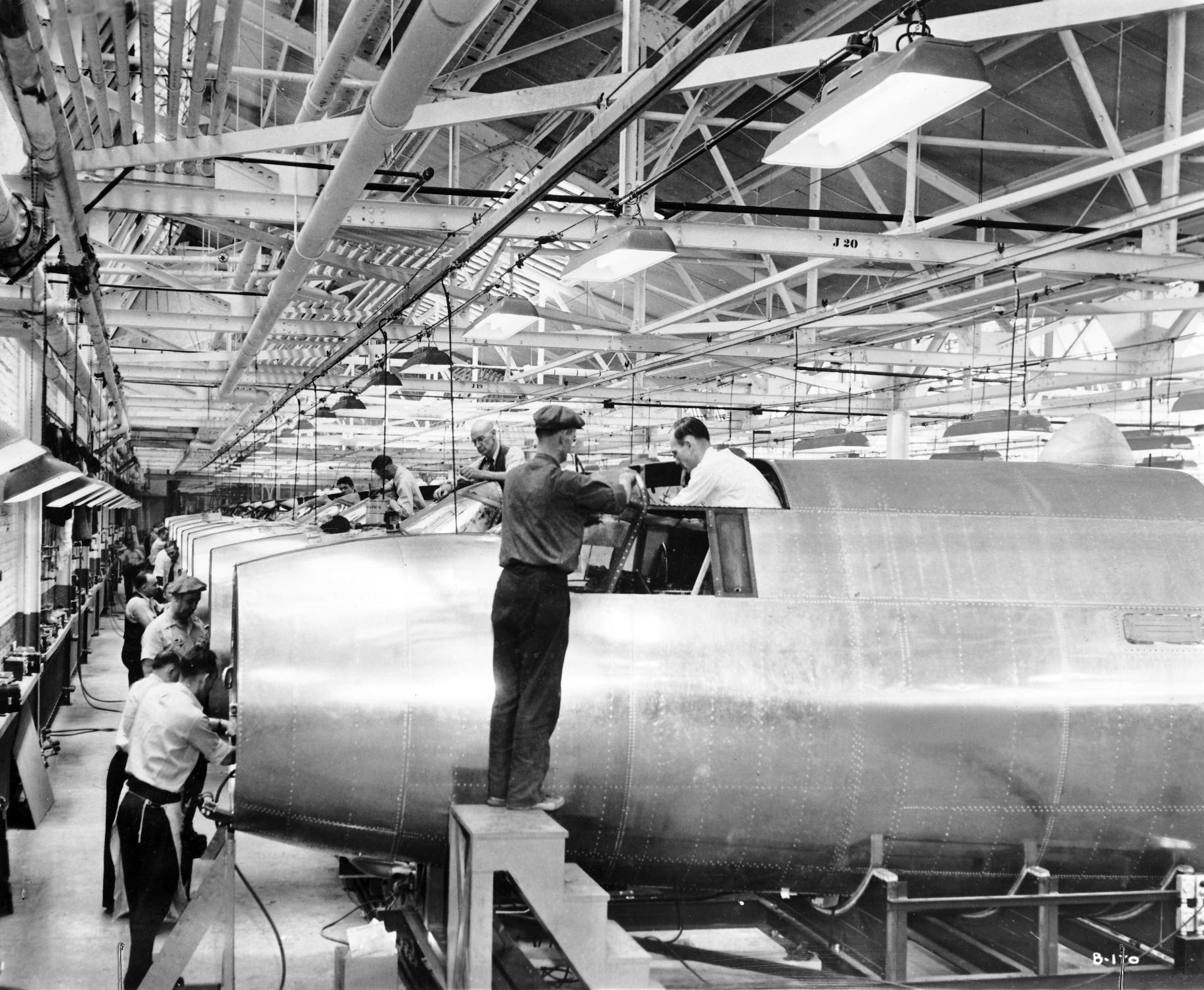 By mid-June 1941, the automaker was purchasing machinery to produce the nose and center fuselage sections for the Martin B-26 Marauder bomber.