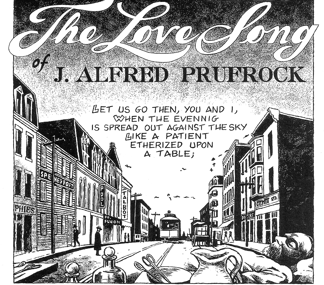 a review of j alfred prufrock poem love song The love song of alfred j prufrock is not just a poem about loneliness, it's a poem about the ravages of time we are all running out of time and unless and until we can figure out a way to stop the clocks, we will need to descend the stairs and dare.
